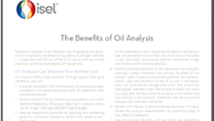 The Benefits of Oil Analysis